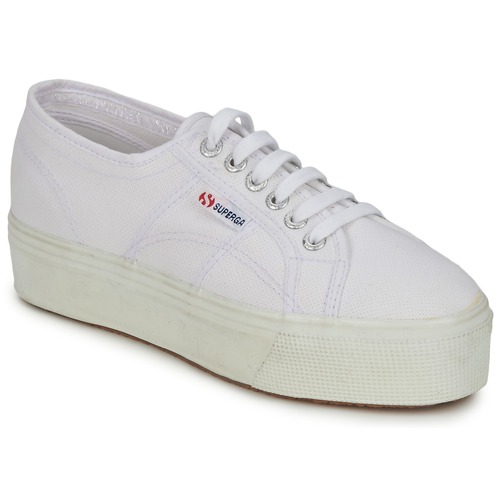 kengät Naiset Matalavartiset tennarit Superga 2790 LINEA UP AND White