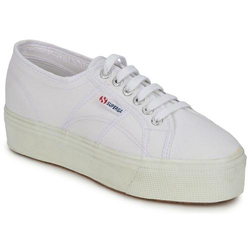 kengät Naiset Matalavartiset tennarit Superga 2790 LINEA UP AND White