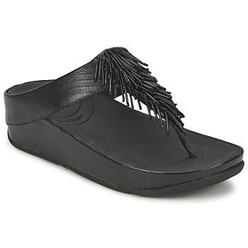 kengät Naiset Varvassandaalit FitFlop CHACHA Black