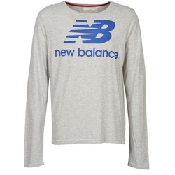 vaatteet Miehet T-paidat pitkillä hihoilla New Balance NBSS1403 LONG SLEEVE TEE Grey