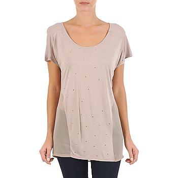 vaatteet Naiset Lyhythihainen t-paita La City MC BEIGE Beige