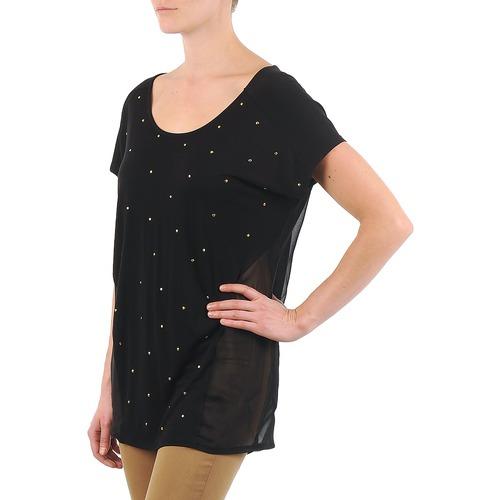 La City Mc Noir Black - Ilmainen Toimitus- Vaatteet Lyhythihainen T-paita Naiset 21