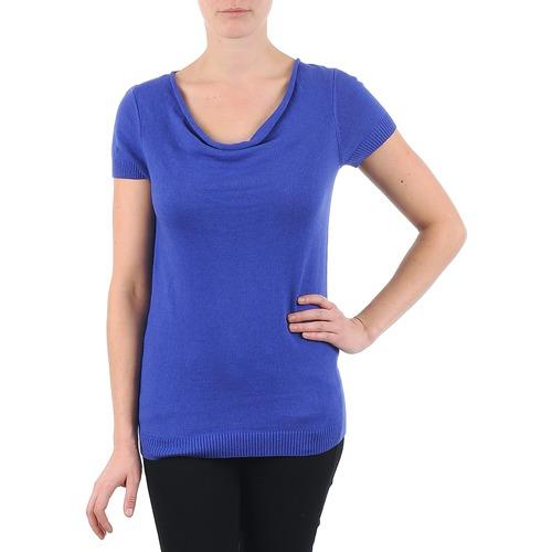 vaatteet Naiset Lyhythihainen t-paita La City PULL COL BEB Blue