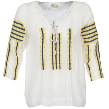 vaatteet Naiset Topit / Puserot Stella Forest ATU025 White / Grey / Yellow