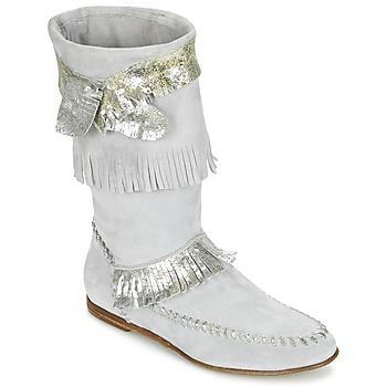 kengät Naiset Saappaat Now MATELI Grey / Hopea