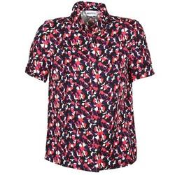 vaatteet Naiset Lyhythihainen paitapusero American Retro NEOSHIRT Black / Pink / Orange