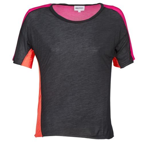 vaatteet Naiset Lyhythihainen t-paita American Retro CAROLE Black / Pink