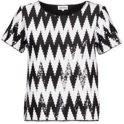 vaatteet Naiset Lyhythihainen t-paita American Retro GEGE Musta / Valkoinen