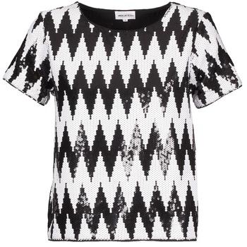 vaatteet Naiset Lyhythihainen t-paita American Retro GEGE Black / White