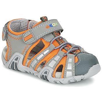 kengät Pojat Urheilusandaalit Geox SANDAL KRAZE B Grey / Orange