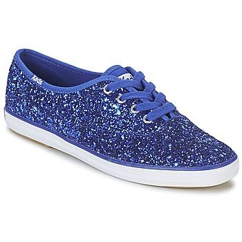 kengät Naiset Matalavartiset tennarit Keds CHAMPION GLITTER Blue