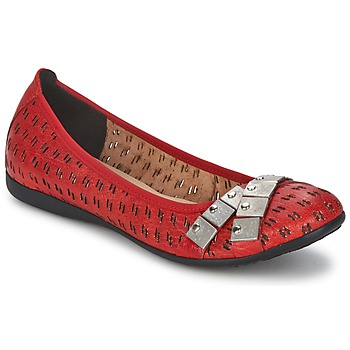 kengät Naiset Balleriinat Un Matin d'Ete DISTRICTY Red