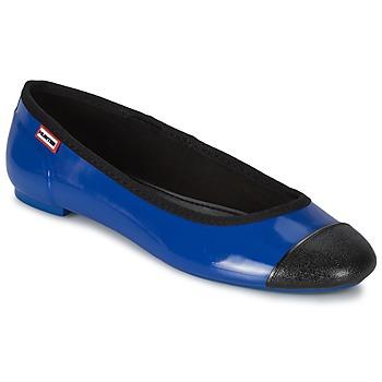 kengät Naiset Balleriinat Hunter ORIGINAL BALLET FLAT Cobalt