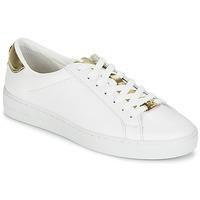 kengät Naiset Matalavartiset tennarit MICHAEL Michael Kors IRVING White / Kulta