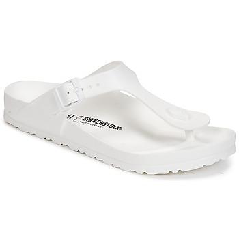 kengät Naiset Varvassandaalit Birkenstock GIZEH EVA White