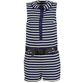 vaatteet Naiset Jumpsuits / Haalarit Petit Bateau FAITOUT Laivastonsininen / White