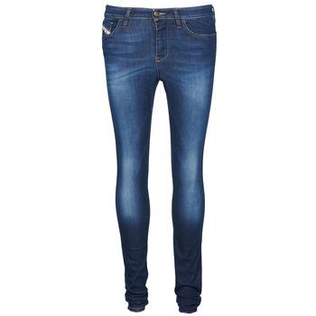 vaatteet Naiset Slim-farkut Diesel SKINZEE Blue