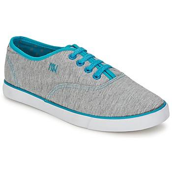 kengät Naiset Matalavartiset tennarit Dorotennis C1 TENNIS RICHELIEU LACETS SEMELL JERSEY Grey / Turkoosi