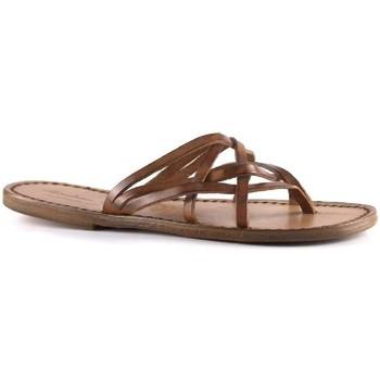 kengät Naiset Sandaalit Gianluca - L'artigiano Del Cuoio 543 D CUOIO CUOIO Cuoio