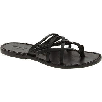 kengät Naiset Sandaalit ja avokkaat Gianluca - L'artigiano Del Cuoio 543 D NERO CUOIO nero
