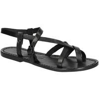 kengät Naiset Sandaalit ja avokkaat Gianluca - L'artigiano Del Cuoio 530 D NERO CUOIO nero