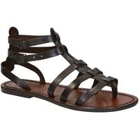 kengät Naiset Sandaalit ja avokkaat Gianluca - L'artigiano Del Cuoio 506 D MORO CUOIO Testa di Moro