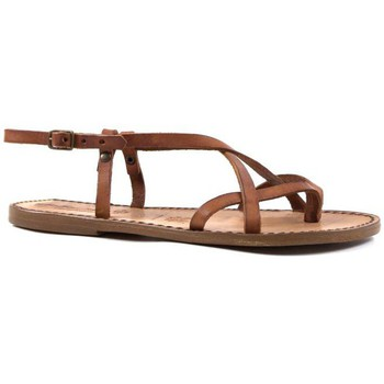 kengät Naiset Sandaalit ja avokkaat Gianluca - L'artigiano Del Cuoio 537 D CUOIO CUOIO Cuoio
