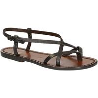 kengät Naiset Sandaalit ja avokkaat Gianluca - L'artigiano Del Cuoio 537 D MORO CUOIO Testa di Moro