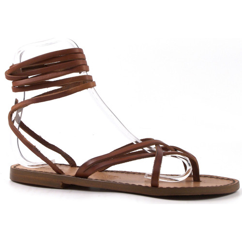 kengät Naiset Sandaalit ja avokkaat Gianluca - L'artigiano Del Cuoio 514 D CUOIO CUOIO Cuoio