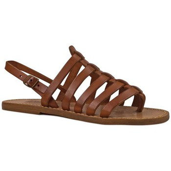 kengät Naiset Sandaalit ja avokkaat Gianluca - L'artigiano Del Cuoio 576 D CUOIO CUOIO Cuoio
