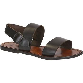 kengät Naiset Sandaalit ja avokkaat Gianluca - L'artigiano Del Cuoio 500 D MORO CUOIO Testa di Moro