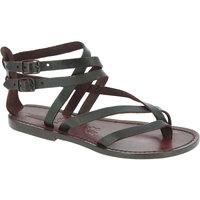 kengät Naiset Sandaalit ja avokkaat Gianluca - L'artigiano Del Cuoio 574 D MORO CUOIO Testa di Moro