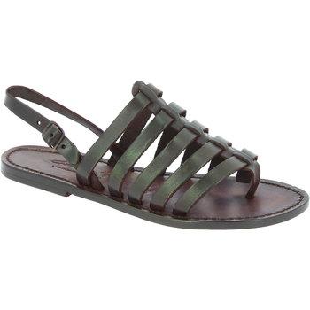 kengät Naiset Sandaalit ja avokkaat Gianluca - L'artigiano Del Cuoio 576 D MORO CUOIO Testa di Moro