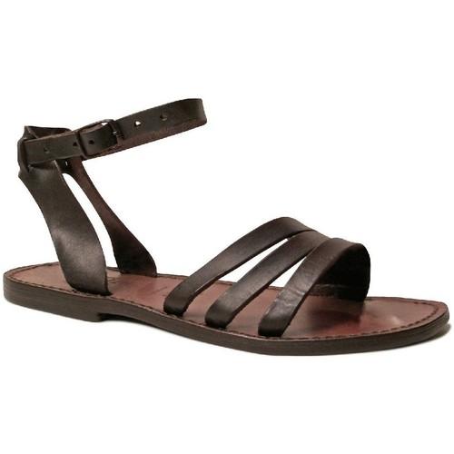 kengät Naiset Sandaalit ja avokkaat Gianluca - L'artigiano Del Cuoio 583 D MORO CUOIO Testa di Moro
