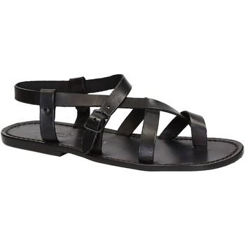 kengät Miehet Sandaalit ja avokkaat Gianluca - L'artigiano Del Cuoio 530 U NERO CUOIO nero