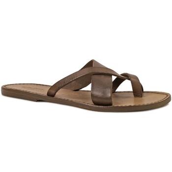 kengät Naiset Sandaalit ja avokkaat Gianluca - L'artigiano Del Cuoio 545 D FANGO CUOIO Fango