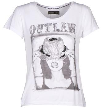 vaatteet Naiset Lyhythihainen t-paita Religion B123OLT45 White