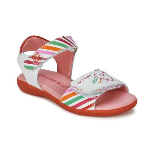 kengät Tytöt Sandaalit ja avokkaat Agatha Ruiz de la Prada CAZOLETA White / Multicolour
