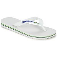 kengät Lapset Varvassandaalit Havaianas BRASIL LOGO Valkoinen
