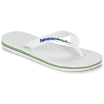 kengät Lapset Varvassandaalit Havaianas BRASIL LOGO White
