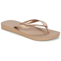 kengät Naiset Varvassandaalit Havaianas TOP METALLIC Pink / Gold