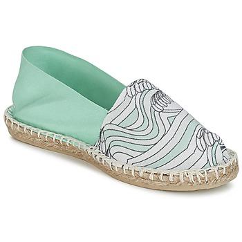 kengät Naiset Espadrillot 1789 Cala CLASSIQUE IMPRIMEE Water / White