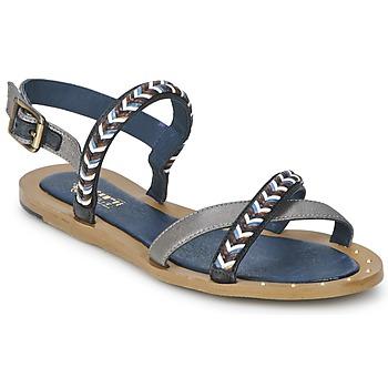 kengät Naiset Sandaalit ja avokkaat Schmoove MEMORY LINK Hopea / Laivastonsininen