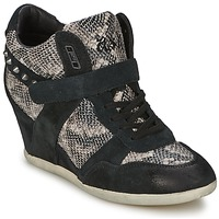 kengät Naiset Korkeavartiset tennarit Ash BISOU Black / Python