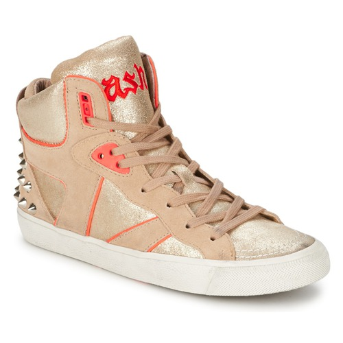 kengät Naiset Korkeavartiset tennarit Ash SPIRIT Beige / Pink