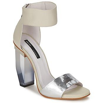 kengät Naiset Sandaalit ja avokkaat Miista JAYDA White / Argenté