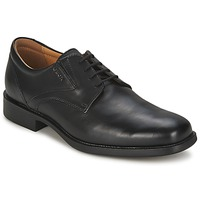 kengät Miehet Derby-kengät Geox FEDERICO Black