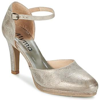 kengät Naiset Sandaalit ja avokkaat Myma LUBBO Metallinen