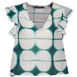vaatteet Naiset Lyhythihainen t-paita Antik Batik BAB White / Green