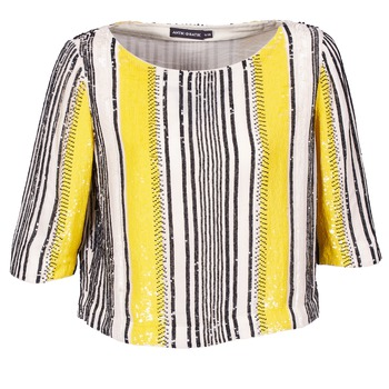 vaatteet Naiset Topit / Puserot Antik Batik ZABOU Yellow / White / Black